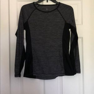 Danskin size S gray and black athletic top